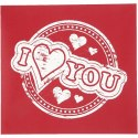 Szablon Sitodruk I heart YOU 22x21 cm